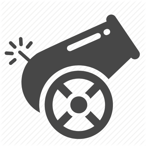 Big Gun, Cannon, Howitzer, Mortar, Pistol, Turret, Weapon Icon
