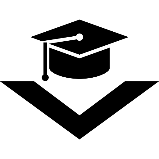 Graduation Cap With Arrowhead Icons Free Download