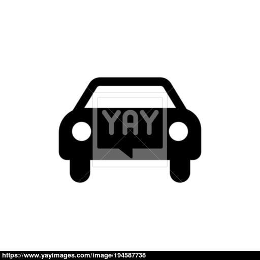 Car Icon Black Car Sign Transportation Icon Vector