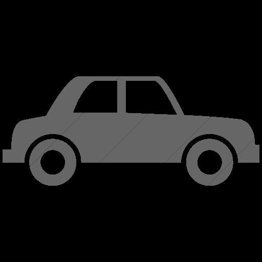 Simple Gray Ocha Humanitarians Logistics Car Icon