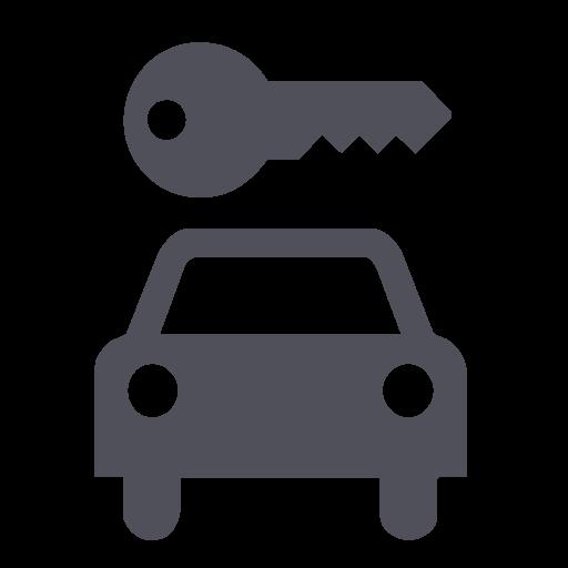 Rent A Car, Car, Key, Car Key, Car Rental Icon