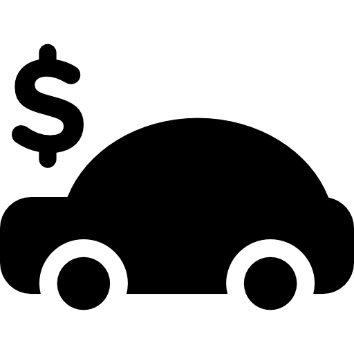 Car With Dollar Sign On Top Icons Free Download