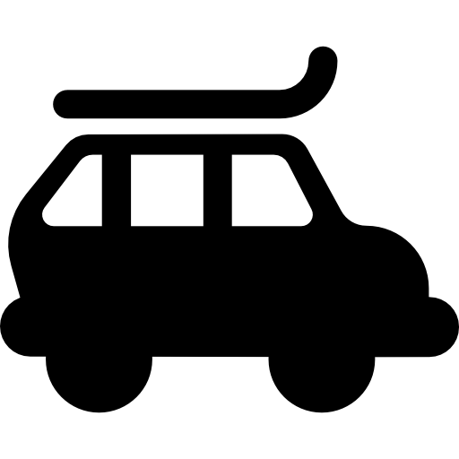 Car With Roof Rack Icons Free Download