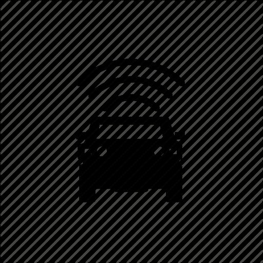 Car, Self Driving, Sensor, Top, Vehicle Icon