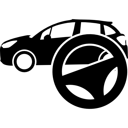 Car And Steering Wheel Icons Free Download