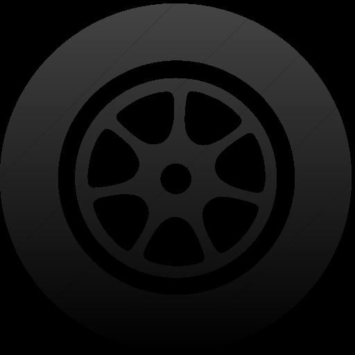 Simple Black Gradient Classica Car Wheel Icon