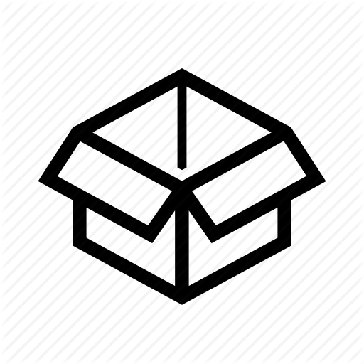 Box, Cardboard, Carton, Courer, Courier, Open, Packet Icon