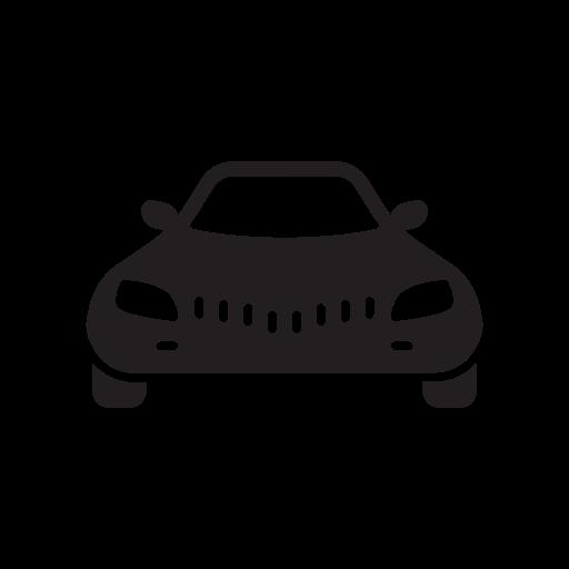 Car, Cardinal, Care, Cargo, Cartoon, Frontal, View Icon Free