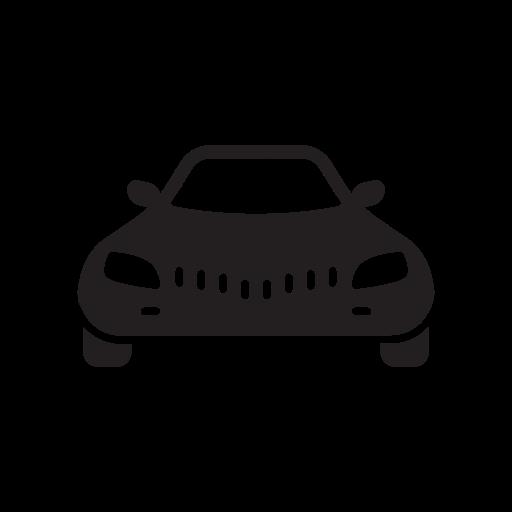 Car, Cardinal, Care, Cargo, Cartoon, Frontal, View Icon