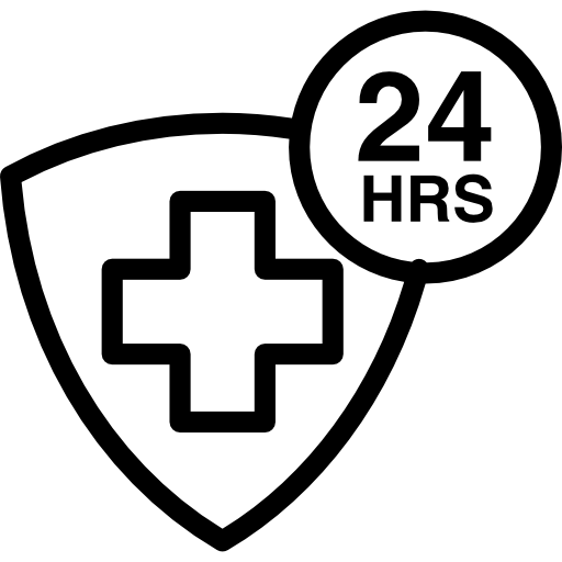 Medical Assistance Hours A Day Icons Free Download