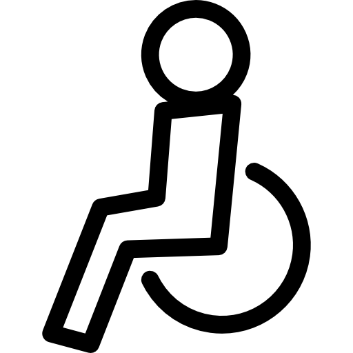 Wheelchair Side View Icons Free Download