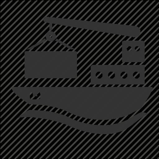 Cargo, Cargo Ship, Crane, Freight, Logistic, Ship, Vessel Icon