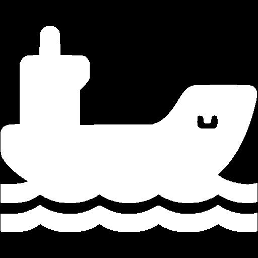 White Cargo Ship Icon