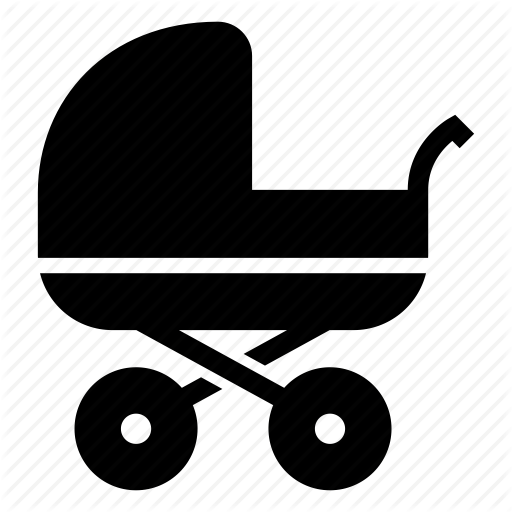 Baby, Carriage, Family, Infant, Kid, Newborn, Stroller Icon