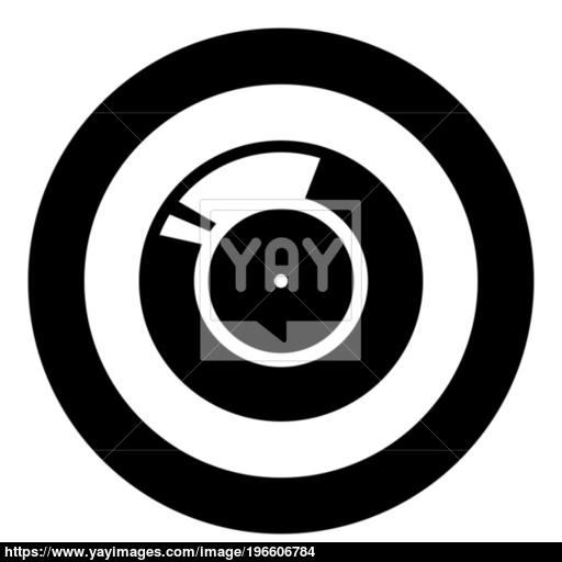 Vinyl Record Retro Sound Carrier Black Icon In Circle Vector