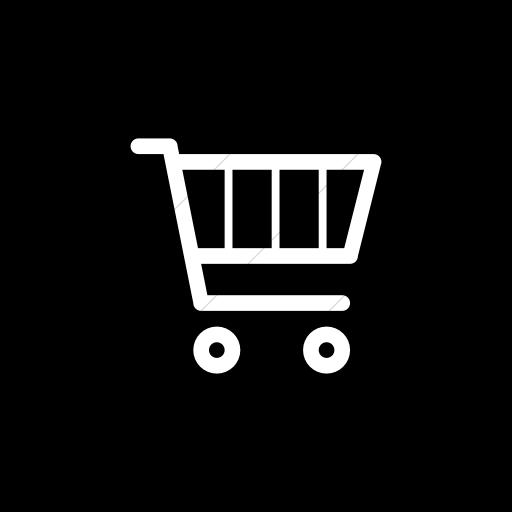 Flat Circle White On Black Broccolidry Shopping Cart Icon