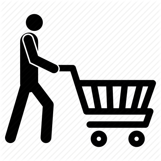 Man With Shopping Cart, Man With Shopping Trolley, Shopping