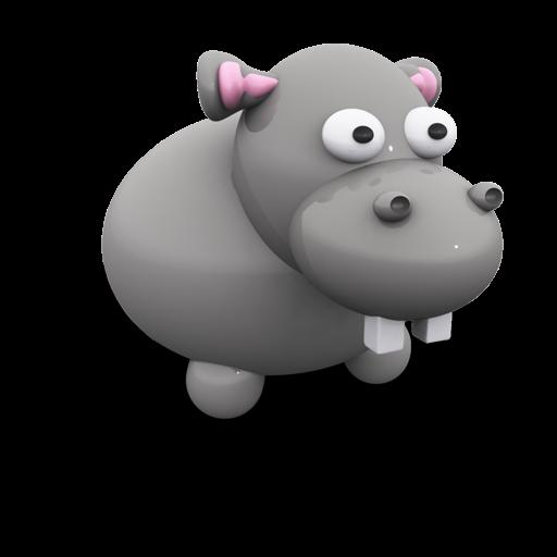 Hippo, Stuffedtoys, Porcelain, Toy, Animal Icon Free Of Plastic