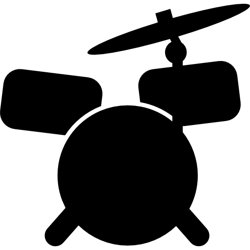 Drum Set Cartoon Variant Icons Free Download