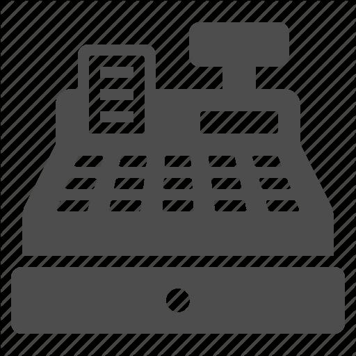 Cash Register, Receipt, Register, Shop, Shopping, Store Icon