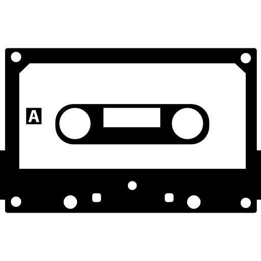 Cassette Tape With Black Border Icons Free Download