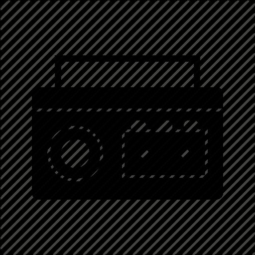 Audio Tape, Cassette, Cassette Player Icon