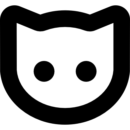 Cat Face Outline Icons Free Download