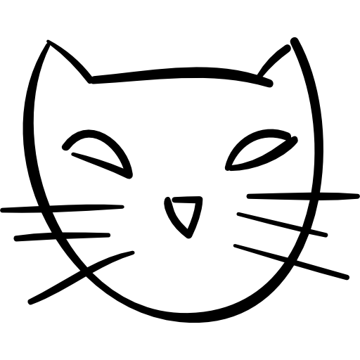 Halloween Cat Face Outline Icons Free Download