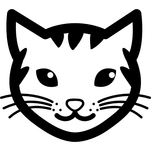 Stripy Cat Face Icons Free Download