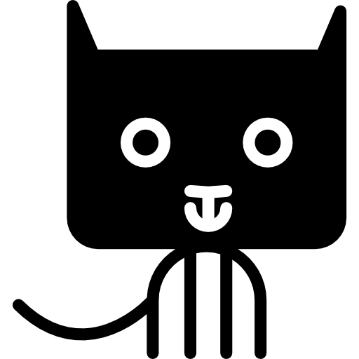 Cat Cartoon Of Rectangular Rounded Head Icons Free Download