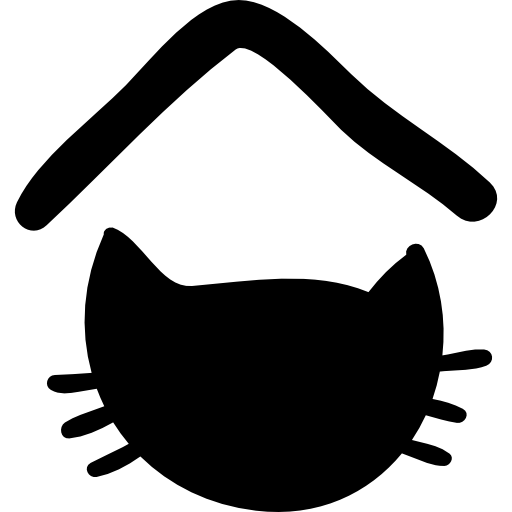 Pet Hotel Sign With Cat Head Silhouette Icons Free Download