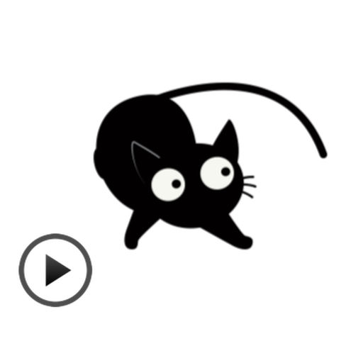 Black Cat Animated Sticker Gif App Data Review