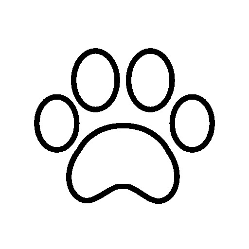 Cougar Paw Print Coloring Pages New White Paw Print Free Vector