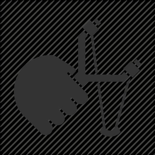 Catapult, Hand, Hold, Shot, Sling, Slingshot, Toy Icon