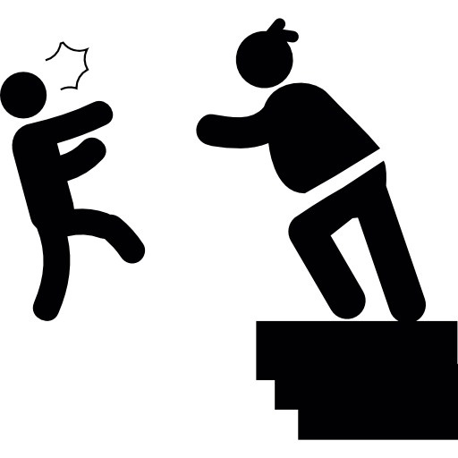 Woman Throwing A Man From A Construction Border Icons Free Download