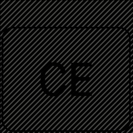 Calculator, Ce, Function, Math, Operation Icon