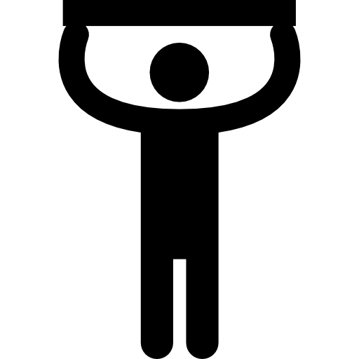 Man Silhouette Touching Ceiling Icons Free Download