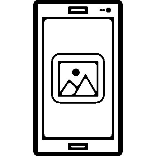 Polaroid Image Symbol On Phone Screen Icons Free Download
