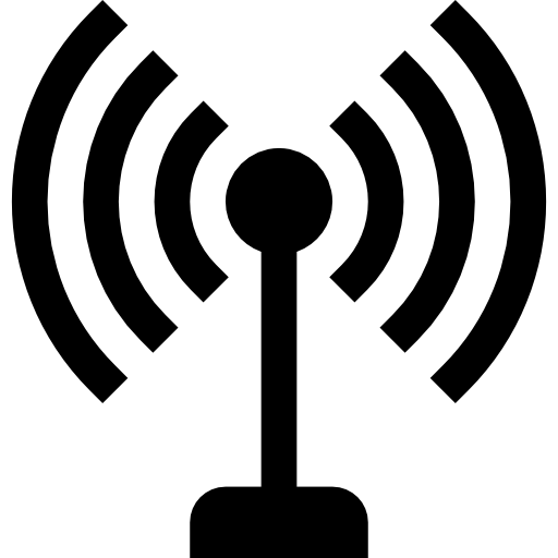 Antenna With Signal Lines Symbol Icons Free Download