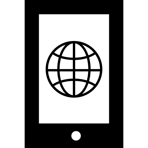 Earth Grid Symbol On Cellular Phone Screen Icons Free Download