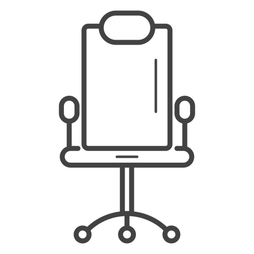 Gaming Chair Stroke Icon