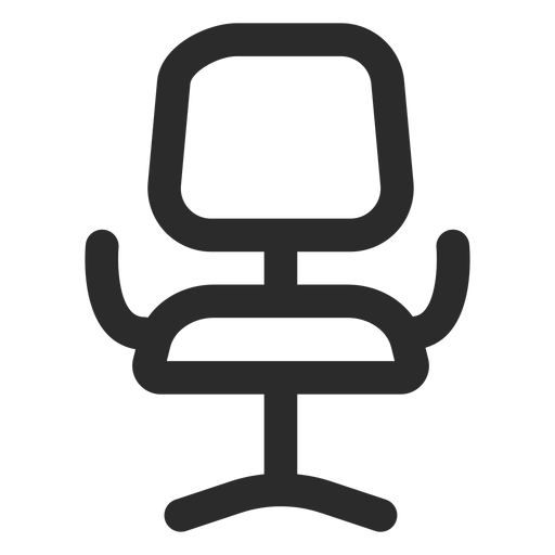 Office Chair Front Stroke Icon