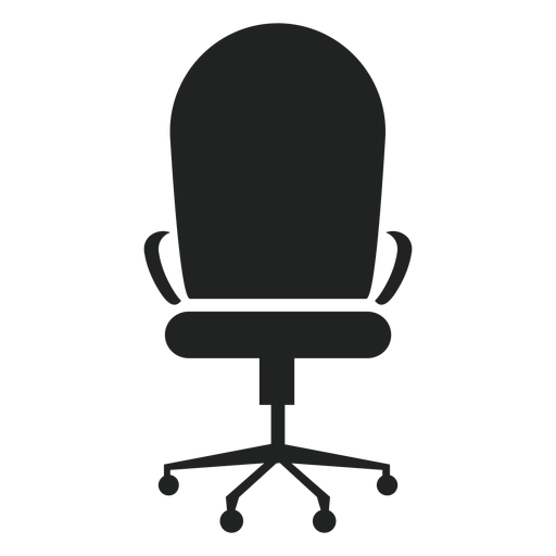 Round Back Office Chair Icon