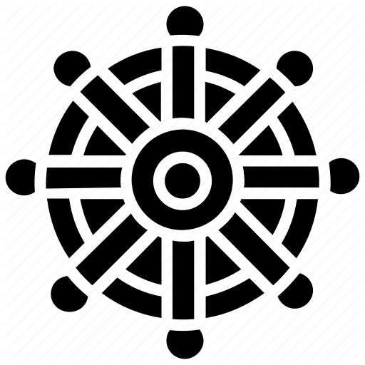Buddhism, Dharma Chakra, Dharma Wheel, Indian Religion, Jainism Icon