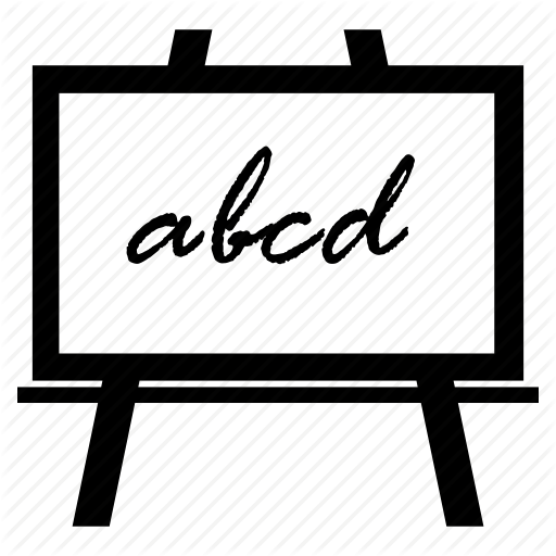 Blackboard, Chalkboard, Early Learning, Whiteboard Icon