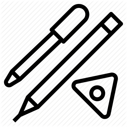 Chalk, Marking, Pen, Pencil, Sewing, Tools Icon