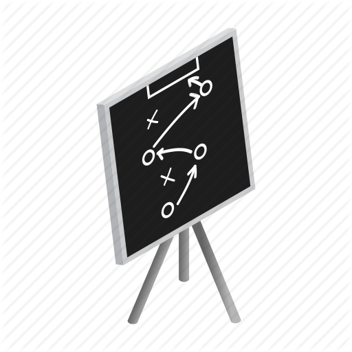 Blackboard, Chalk, Chalkboard, Diagram, Football, Isometric