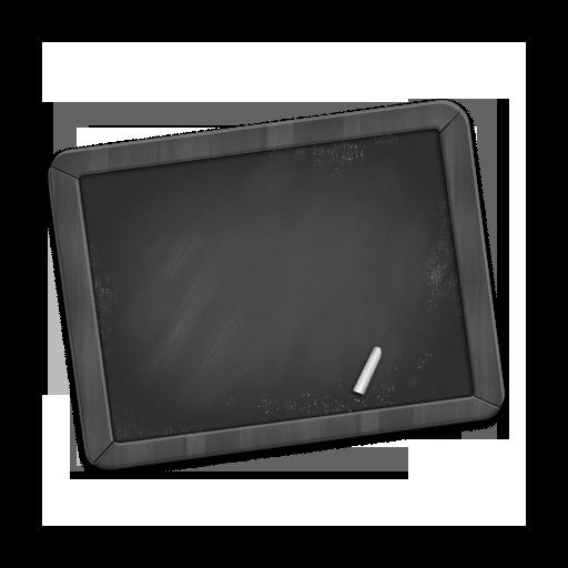 Grey Chalkboard Icon