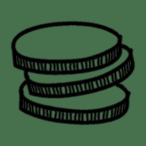 Hand Drawn Coins Icon