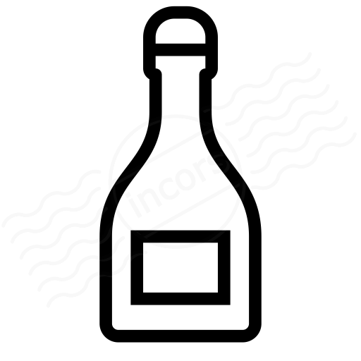 Iconexperience I Collection Champagne Bottle Icon
